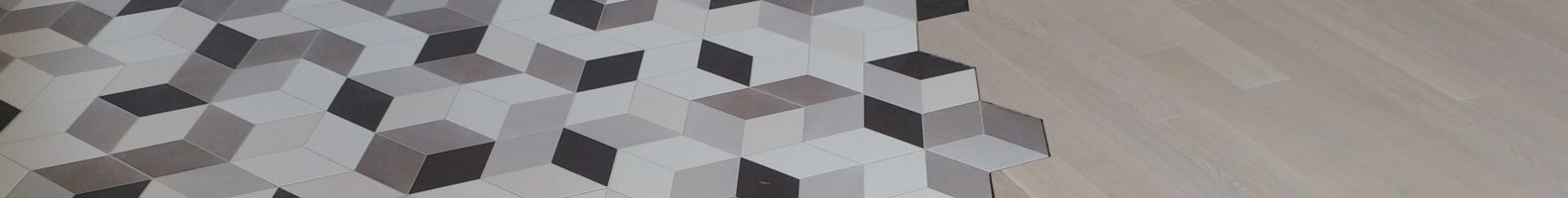 Płytki heksagony połączone z panelami